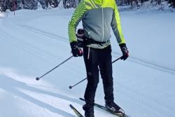 Ski de fond à la Darbella, le 09 janvier 2021